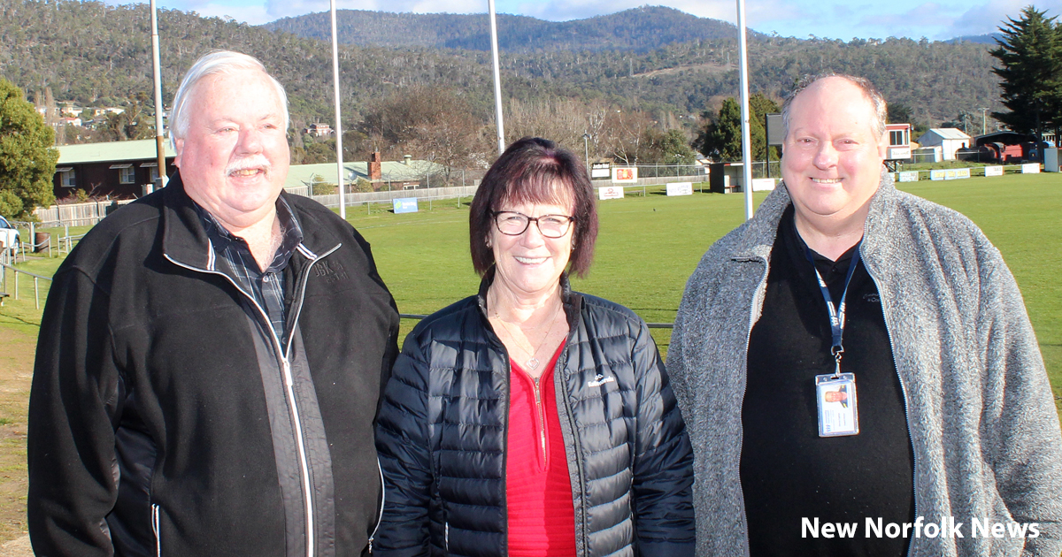 Chris Lovell, Sally Coleman and Harvey Coghlan at Boyer Oval