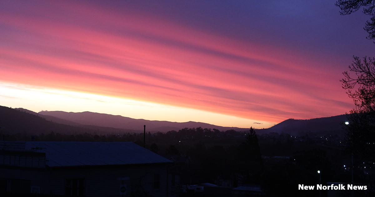 Sunset over New Norfolk
