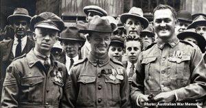 Three Victoria Cross recipients including New Norfolk's Wally Brown