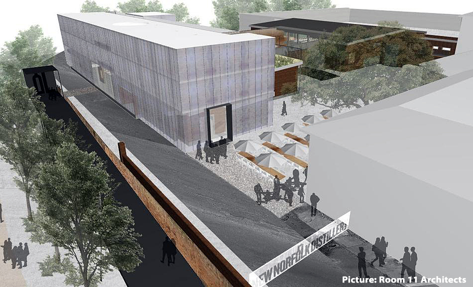 An artist's impression of a hotel proposed for Willow Court at New Norfolk