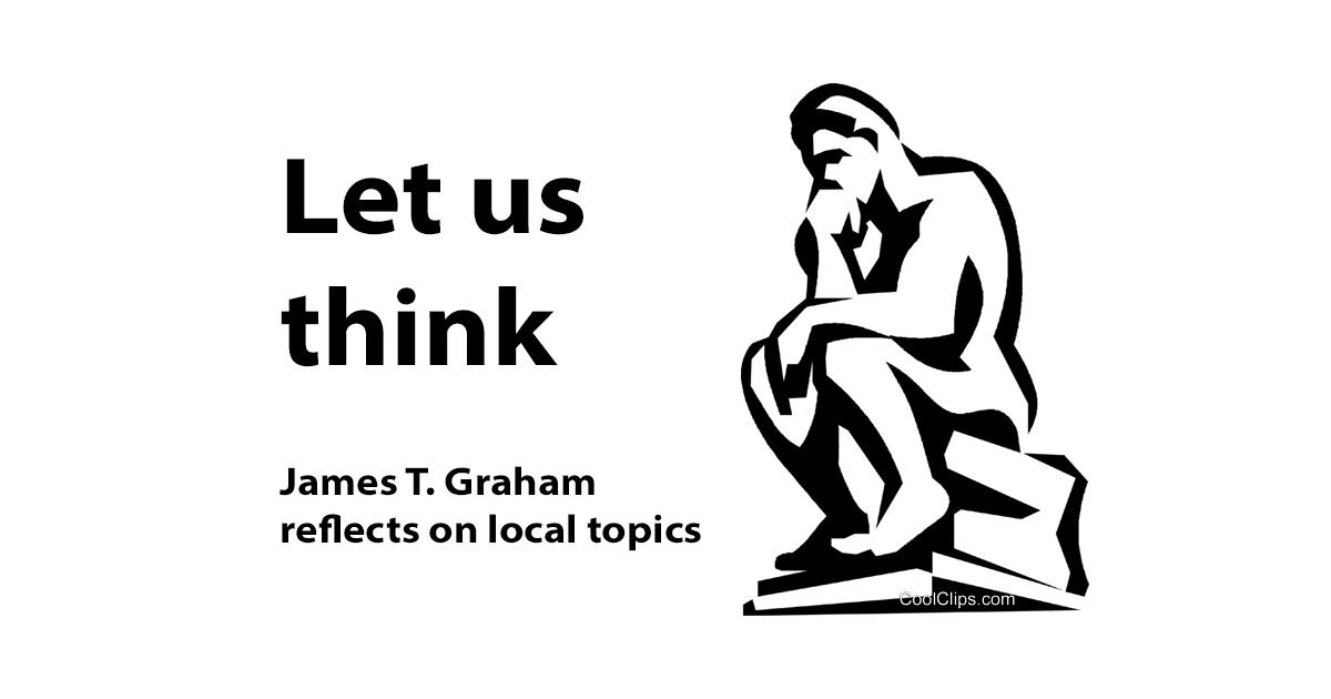 "Logo for James Graham's ""Let us Think"" column"
