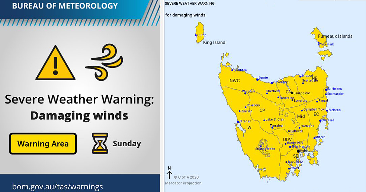 severe weather warning for damaging winds