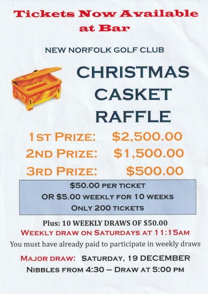 poster for golf club raffle