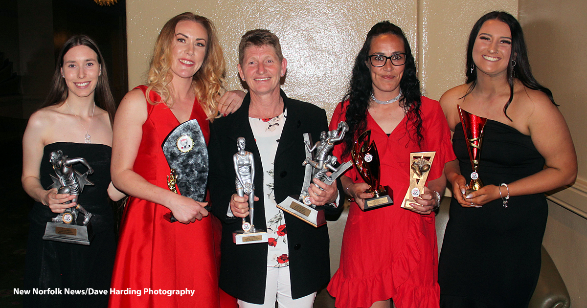 New Norfolk District Football Club's women's team awards
