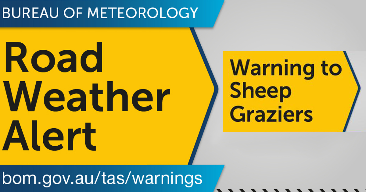 road weather and sheep graziers warning