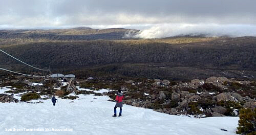 snow on Mt Mawson